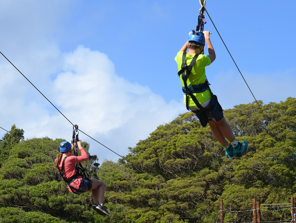 Ziplining activities in Addo